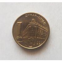 1 динар 2016 г Сербия