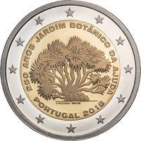 2 евро Португалия 2018 Ботанический сад UNC из ролла