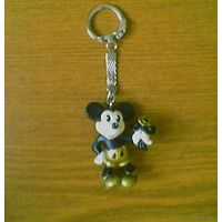 Брелок Микки Маус (Mickey Mouse, мышонок Микки), Bullyland (Walt Disney). 1986.