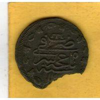Крымское ханство. Копейка 1777 г. (1191 по лунной хиджре). Шахин Гирей ибн Ахмад Гирей. Русский стандарт монет.