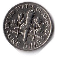 США. 1 дайм (10 центов). 1990 P