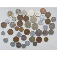 Лот монет Азии-Япония,Корея,китай,Вьетнам и др,С РУБЛЯ