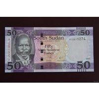 Южный Судан 50 фунтов 2017 UNC