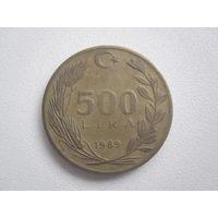 500 Лир 1989 (Турция)