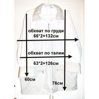 Куртка светлая с капюшоном-ветровка, новая, удлиненная