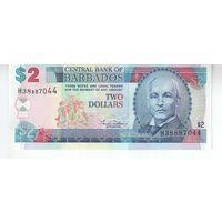 2 доллара Барбадоса   . UNC!-ПРЕСС!
