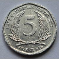 Восточные Карибы 5 центов, 2002 г.