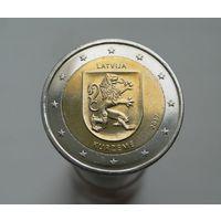 2 евро 2017 Латвия Курземе аUNC
