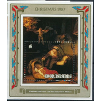 Острова Кука 1987 Живопись Религия Рождество Рембрандт блок **