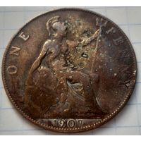 Великобритания 1 пенни, 1907         ( К-10-4 )