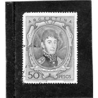 Аргентина.Ми-631. Генерал Хосе Франсиско де-Сан-Мартин. (1778-1850). Серия: Личности и пейзажи.1956.