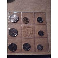 Сан-Марино официальный набор 1972 года (500 лир - серебро),
