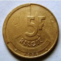 5 франков 1986 (Ё) Бельгия