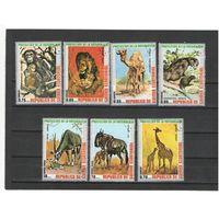 Экваториальная Гвинея 1974г. дикие звери. 7м.
