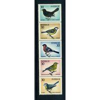 Швеция 1970. птицы 5м. сцепка