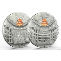 "Палау 10 долларов 2014г. ""Гранд опера, Париж"". Монета в капсуле; сертификат. СЕРЕБРО 62,27гр.(2 oz)."