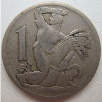 Чехословакия 1 крона 1924 г. (d)