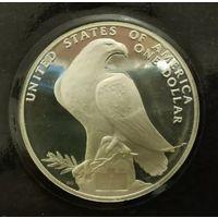 США 1 доллар 1984S. Олимпиада в Лос-Анджелесе. С рубля.