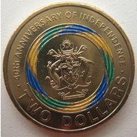 Соломоновы острова 2 доллара 2018 г. 40 лет независимости