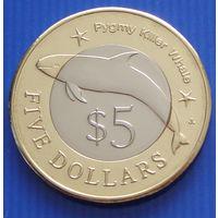 """Федеративные Штаты Микронезии. 5 долларов 2012 год  """"Карликовая касатка""""  Тираж: 10.000"""