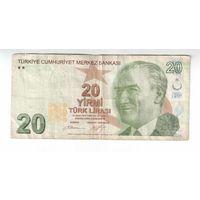 20 лир Турции 2009 год ходовые