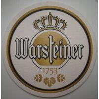 Подставка под пиво (бирдекель) Warsteiner