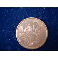 Монета 2 цента, Папуа новая Гвинея, 2004 г.