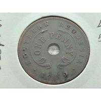 Южная Родезия. 1 пенни 1950, в холдере.