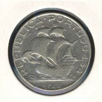 Португалия 2,5 эскудо 1944 г. Серебро.