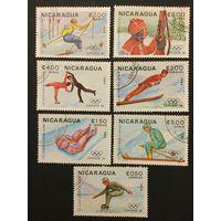 Зимние олимпийские игры в Сараево. Никарагуа,1983,2 полных серии 4+3 марки