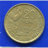 Франция 20 франков 1951 B