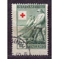Красный крест. Рыбаки с неводом. Финляндия. 1946