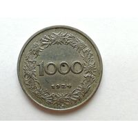 1000 крон 1924 года. Австрия. Монета А2-2-(9 - 11)