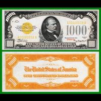 [КОПИЯ] США 1000 долларов 1934г. Золотой Сертификат.