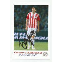 Oscar Cardozo(Парагвай). Фотография с живым автографом.