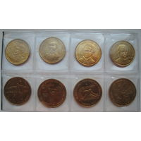 Греция 50 и 100 драхм 1994, 1997, 1998, 1999 гг. Комплект юбилейных 50 и 100 драхм (g)