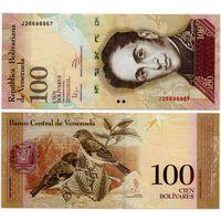 Венесуэла. 100 боливаров (образца 2011 года, P93d, UNC)