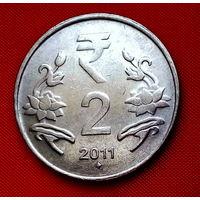 06-24 Индия, 2 рупии 2011 г.