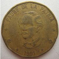 Доминикана 1 песо 1991 г. (g)