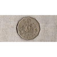 Свазиленд 50 центов 1974 /фауна///(Ст)