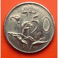 02-36 ЮАР, 50 центов 1983 г. Единственное предложение монеты данного года на АУ