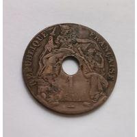 Французский Индокитай 1 цент 1923 год.