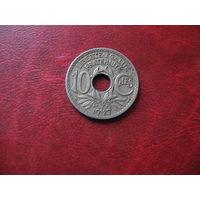 10 сантимов 1927 год Франция
