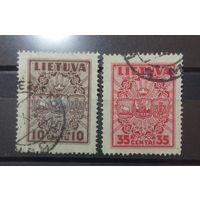 Литва 2 старенькие марочки гербы