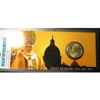 "50 евроцентов 2012 Ватикан ""Папа Бенедикт XVI"""