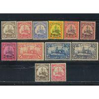 Германия Колонии Того 1900-9 Яхта Гогенцоллерн Стандарт #7-12,14-8,20,22*