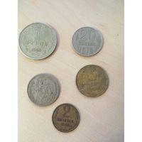 Монеты 3 копейки 1957, 2 копейки 1968, 20 копеек 1933, 1 рубль 1964, 20 копеек 1979