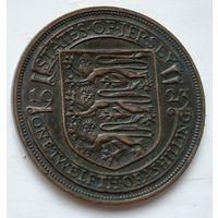 Джерси 1/12 шиллинга, 1923 Испанский щит 1-10-21