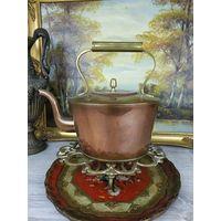Аукцион! Оригинальный антикварный медный чайник АРТ 02-51