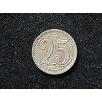 Чехословакия 25 геллеров 1933г